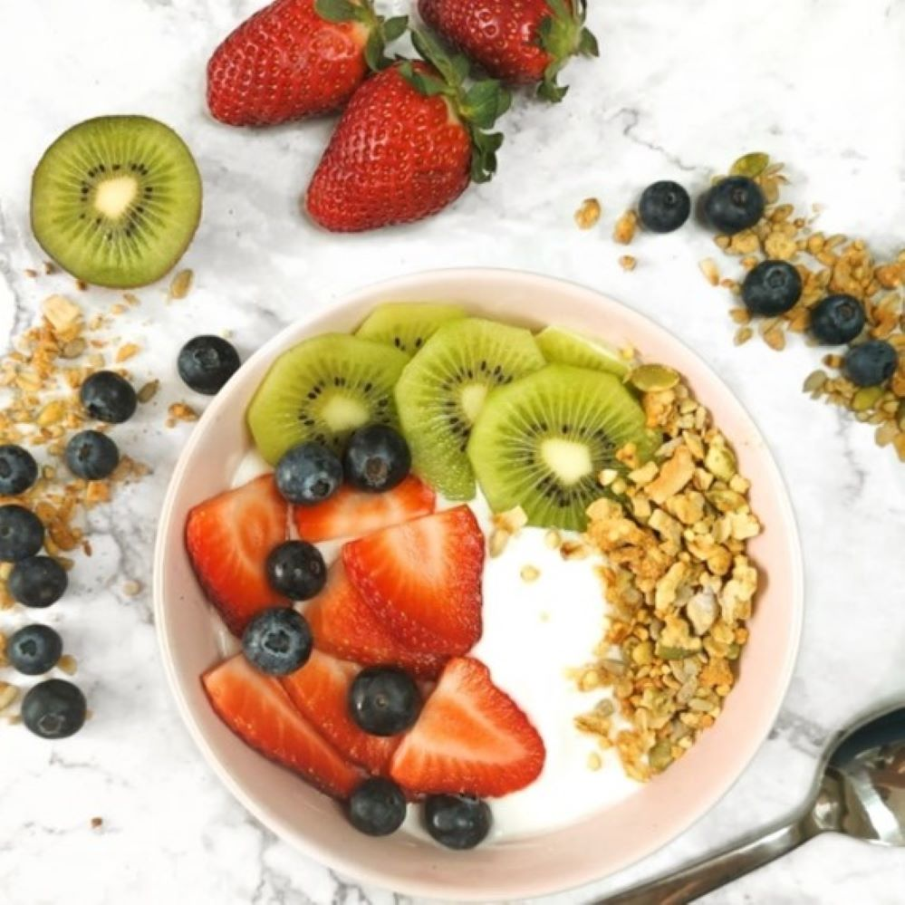 healthy kokosyoghurt bowl